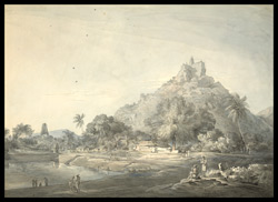 Temples on hill top at Trinchicanom (Madras)